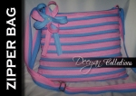 Zipper Bag warna : Pink - biruMuda uk kurleb 28x24 Tali slempang